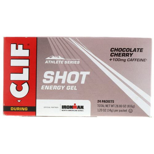 Clif Bar, Shot Energy Gel, Chocolate Cherry + 100 mg Caffeine, 24 Packets, 1.20 oz (34 g) Each Review