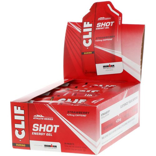 Clif Bar, Shot Energy Gel, Strawberry + 25 mg Caffeine, 24 Packets, 1.2 oz (34 g) Each Review