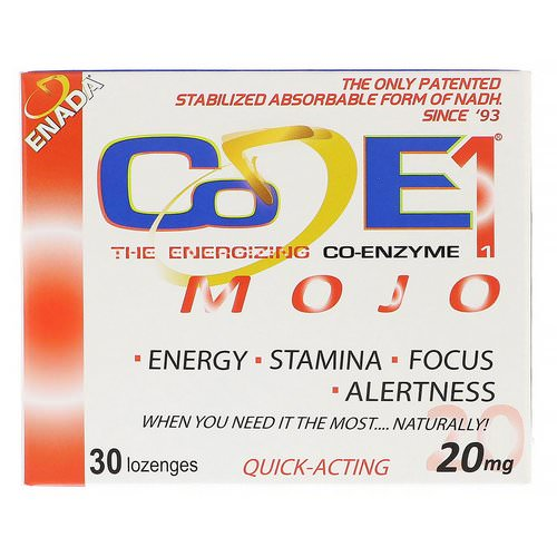 ENADA, The Energizing Co-Enzyme, Mojo, 20 mg, 30 Lozenges Review
