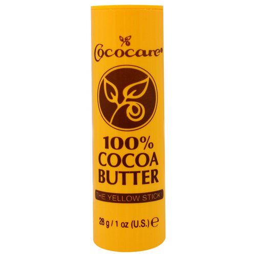Cococare, 100% Cocoa Butter, The Yellow Stick, 1 oz (28 g) Review
