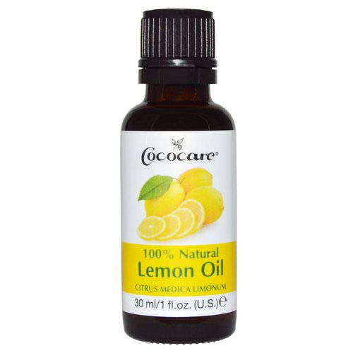 Cococare, 100% Natural Lemon Oil, Citrus Medica Limonum, 1 fl oz (30 ml) Review