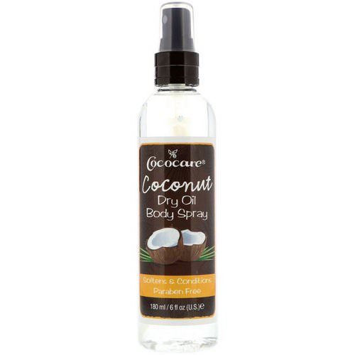 Cococare, Coconut Dry Oil Body Spray, 6 fl oz (180 ml) Review