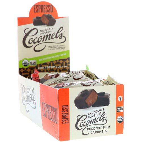Cocomels, Organic, Chocolate Covered Coconut Milk Caramels, Espresso, 15 Units, 1 oz (28 g) Each Review