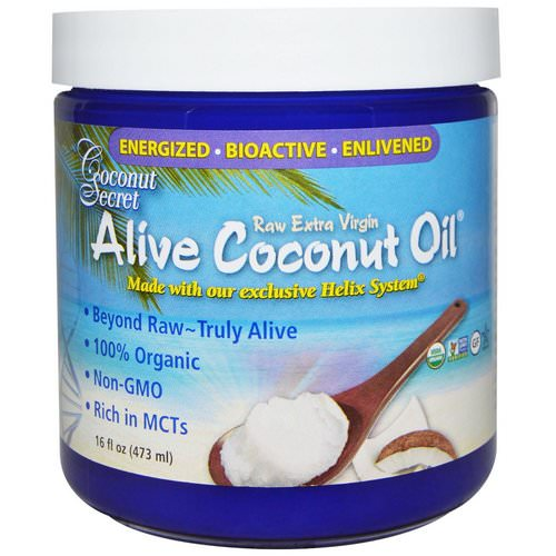 Coconut Secret, Organic Alive Coconut Oil, Raw Extra Virgin, 16 fl oz (473 ml) Review