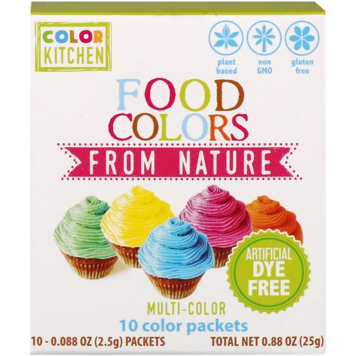 ColorKitchen, Food Colors From Nature, Multi-Color, 10 Color Packets, 0.088 oz (2.5 g) Each Review