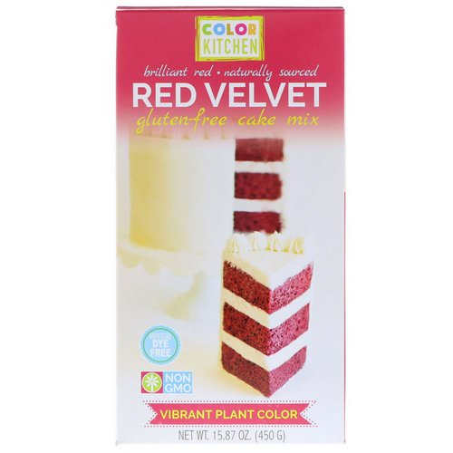 ColorKitchen, Gluten-Free Cake Mix, Red Velvet, 15.87 oz (450 g) Review