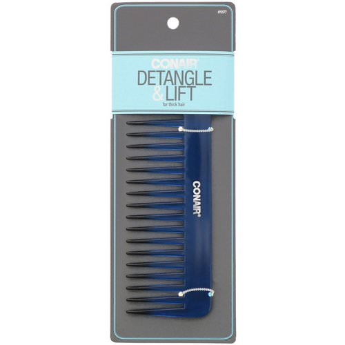 Conair, Detangle & Lift Wide-Tooth Comb, For Thick Hair, 1 Comb Review