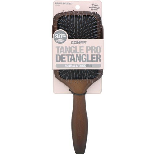 Conair, Tangle Pro Detangler, Normal & Thick Hair, Wood Paddle Hair Brush, 1 Brush Review