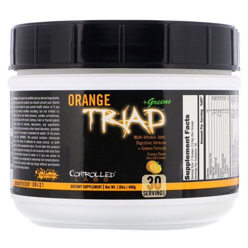 Controlled Labs, Orange Triad + Greens, Orange Flavor, 0.9 lbs (408 g) Review