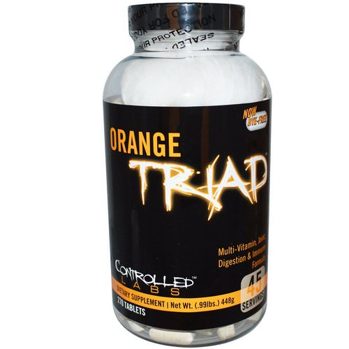 Controlled Labs, Orange Triad, Multi-Vitamin, Joint, Digestion & Immune Formula, 270 Tablets Review