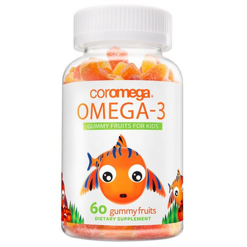 Coromega, Omega-3, Gummy Fruits For Kids, 60 Gummy Fruits Review