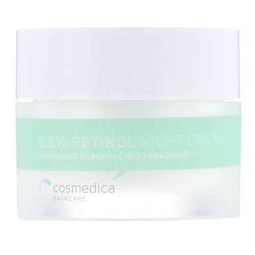 Cosmedica Skincare, 2.5% Retinol Night Cream, Overnight Resurfacing Treatment, 1.76 oz (50 g) Review