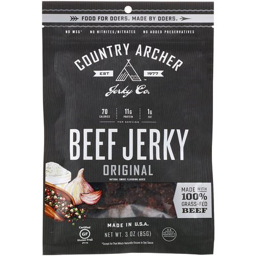 Country Archer Jerky, Beef Jerky, Original, 3 oz (85 g) Review