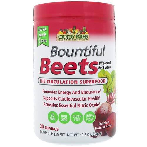 Country Farms, Bountiful Beets, The Circulation Superfood, Delicious Natural Flavor, 10.6 oz (300 g) Review