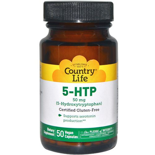Country Life, 5-HTP, 50 mg, 50 Vegan Caps Review