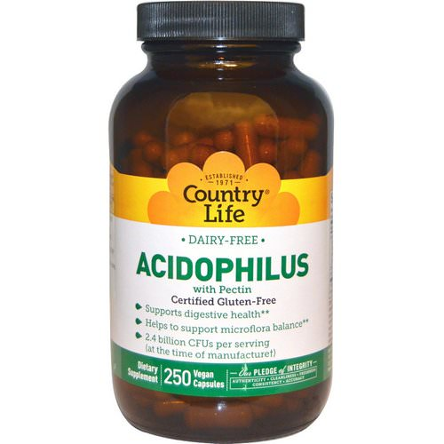 Country Life, Acidophilus with Pectin, 250 Veggie Caps Review