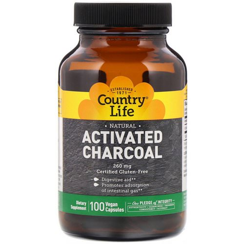 Country Life, Activated Charcoal, 260 mg, 100 Vegan Capsules Review