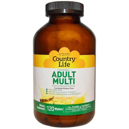 Country Life, Adult Multi, Chewable, Pineapple-Orange Flavor, 120 Wafers Review