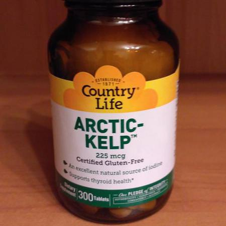 Country Life, Arctic-Kelp, 225 mcg, 300 Tablets Review