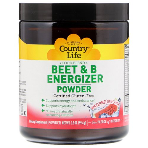 Country Life, Beet & B Energizer Powder, Watermelon Flavor, 3.5 oz (99.6 g) Review