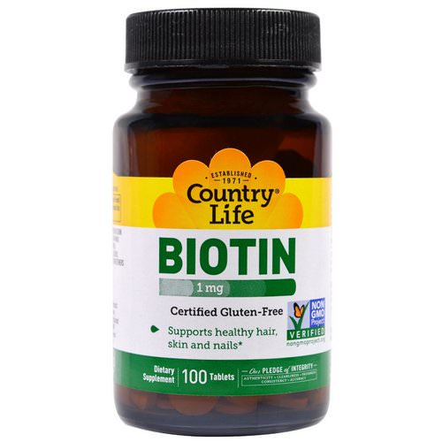 Country Life, Biotin, 1 mg, 100 Tablets Review