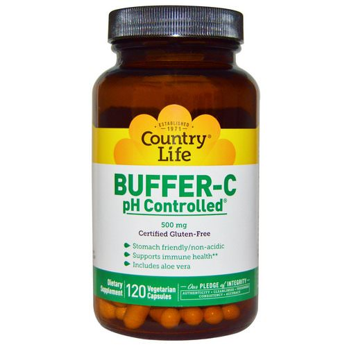 Country Life, Buffer-C, pH Controlled, 500 mg, 120 Veggie Caps Review