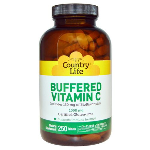 Country Life, Buffered Vitamin C, 1000 mg, 250 Tablets Review