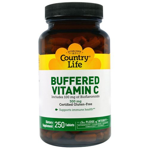 Country Life, Buffered Vitamin C, 500 mg, 250 Tablets Review