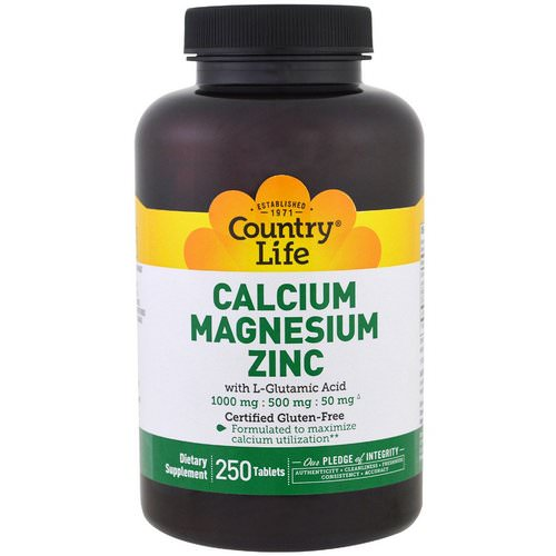 Country Life, Calcium Magnesium Zinc, 250 Tablets Review
