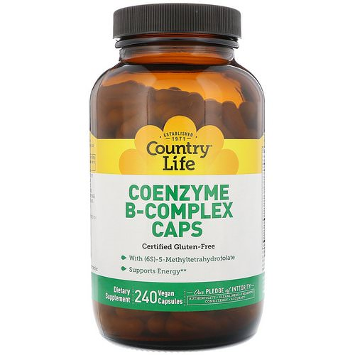 Country Life, Coenzyme B-Complex Caps, 240 Vegan Capsules Review