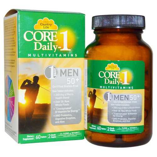 Country Life, Core Daily-1, Multivitamins, Men 50+, 60 Tablets Review