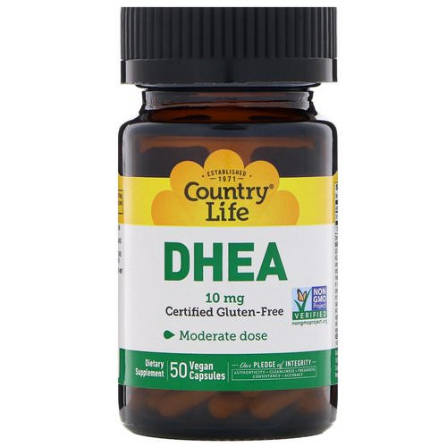 Country Life, DHEA, 10 mg, 50 Vegan Capsules Review