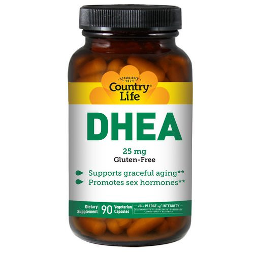Country Life, DHEA, 25 mg, 90 Vegetarian Capsules Review