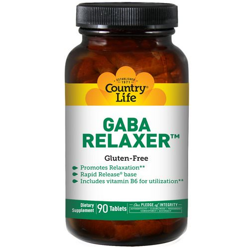 Country Life, GABA Relaxer, 90 Tablets Review