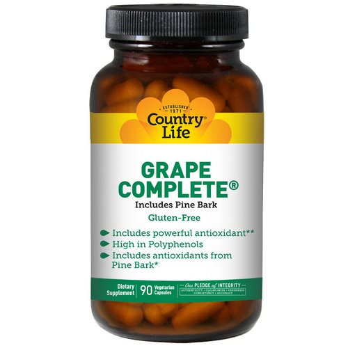Country Life, Grape Complete, Includes Pine Bark, 90 Veggie Caps Review