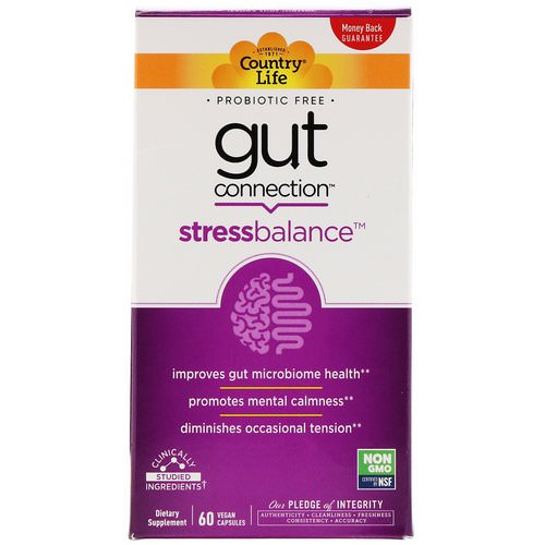 Country Life, Gut Connection, Stress Balance, 60 Vegan Capsules Review