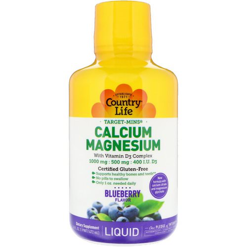 Country Life, Liquid Calcium Magnesium, Blueberry Flavor, 16 fl oz (472 ml) Review