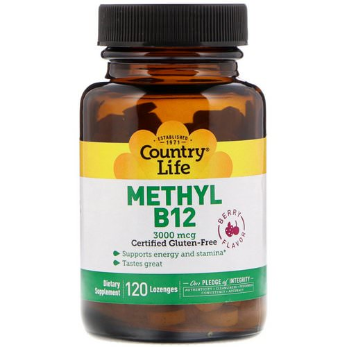 Country Life, Methyl B12, Berry Flavor, 3,000 mcg, 120 Lozenges Review