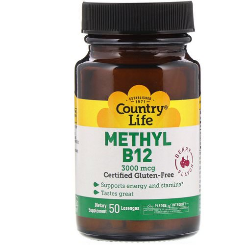 Country Life, Methyl B12, Berry Flavor, 3,000 mcg, 50 Lozenges Review