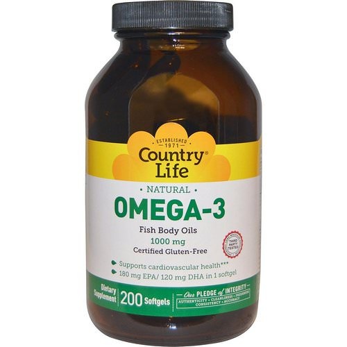 Country Life, Omega-3, 1000 mg, 200 Softgels Review