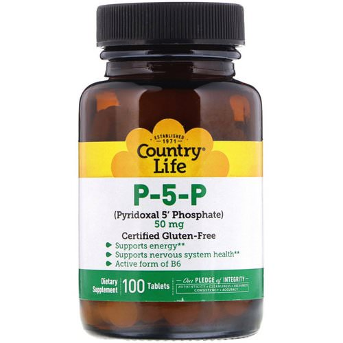 Country Life, P-5-P (Pyridoxal 5' Phosphate), 50 mg, 100 Tablets Review