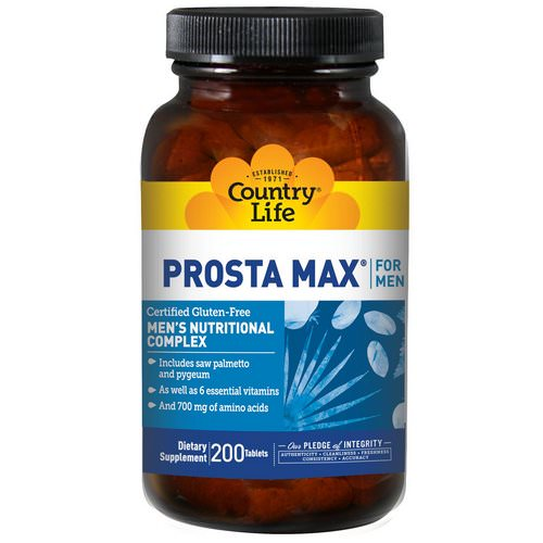 Country Life, Prosta Max, for Men, 200 Tablets Review