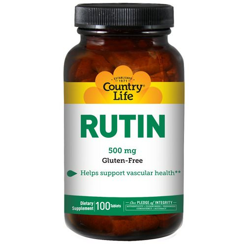 Country Life, Rutin, 500 mg, 100 Tablets Review