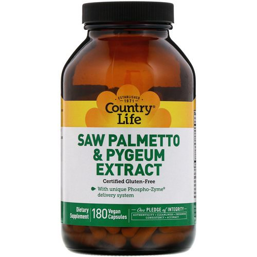 Country Life, Saw Palmetto & Pygeum Extract, 180 Vegan Capsules Review
