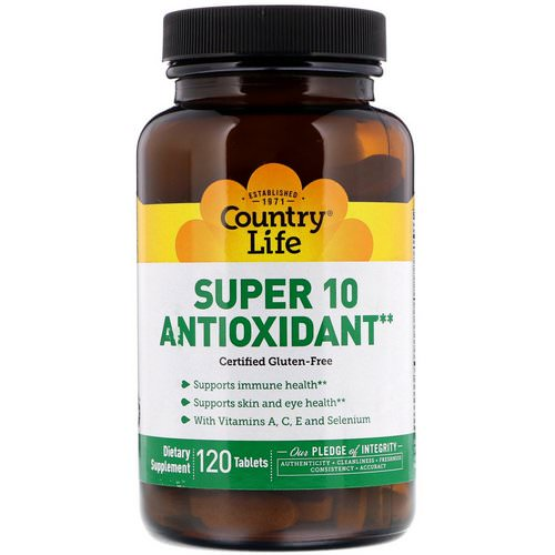 Country Life, Super 10 Antioxidant, 120 Tablets Review