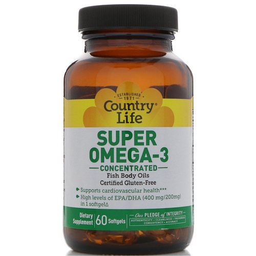 Country Life, Super Omega-3, Concentrated, 60 Softgels Review