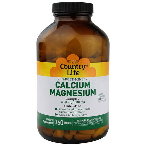 Country Life, Target-Mins, Calcium-Magnesium Complex, 360 Tablets Review