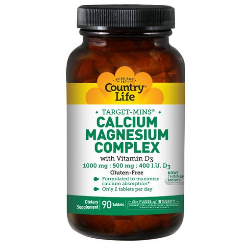 Country Life, Target-Mins, Calcium Magnesium Complex, with Vitamin D3, 90 Tablets Review