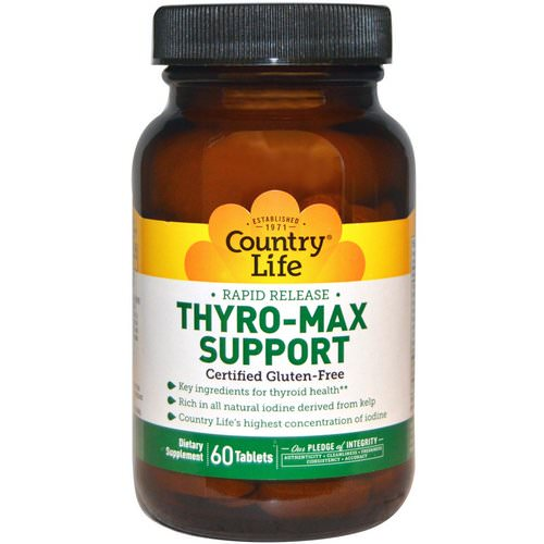 Country Life, Thyro-Max Support, 60 Tablets Review