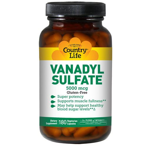 Country Life, Vanadyl Sulfate, 180 Vegan Caps Review